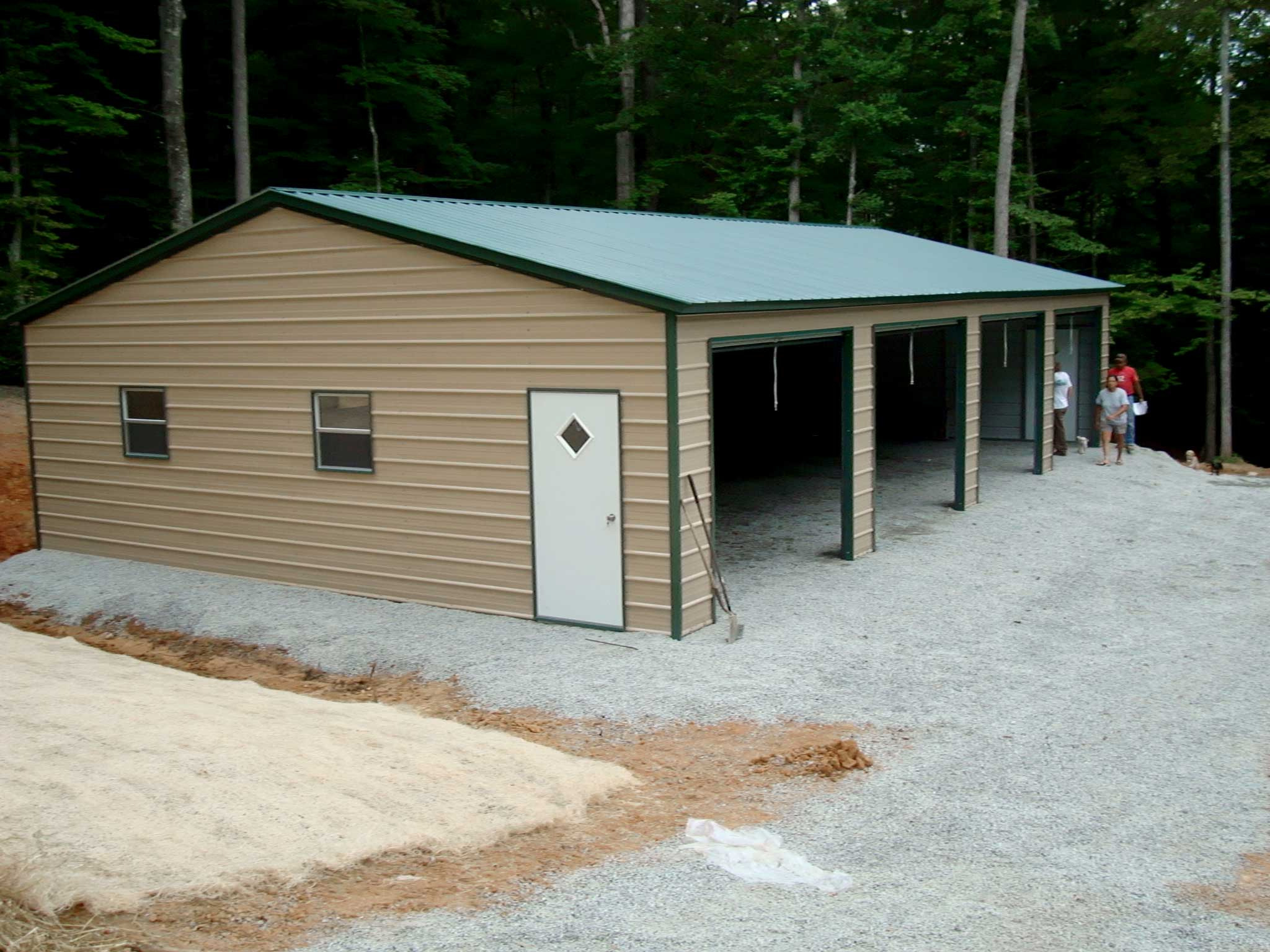 Steel building kits and metal buildings by steel building for Diy 3 car garage