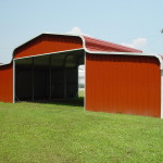 County style metal barn is the most economical barn.