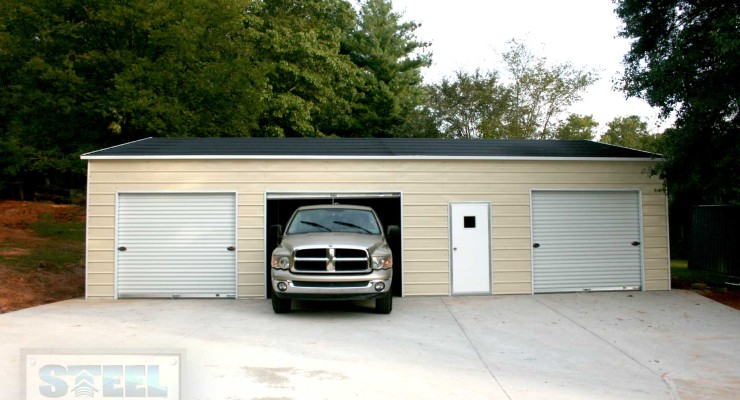 Metal garage building kits steel building garages 3 car metal garage kits