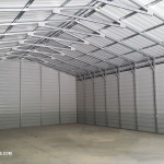 The Interior of a building from Steel Building Garages.