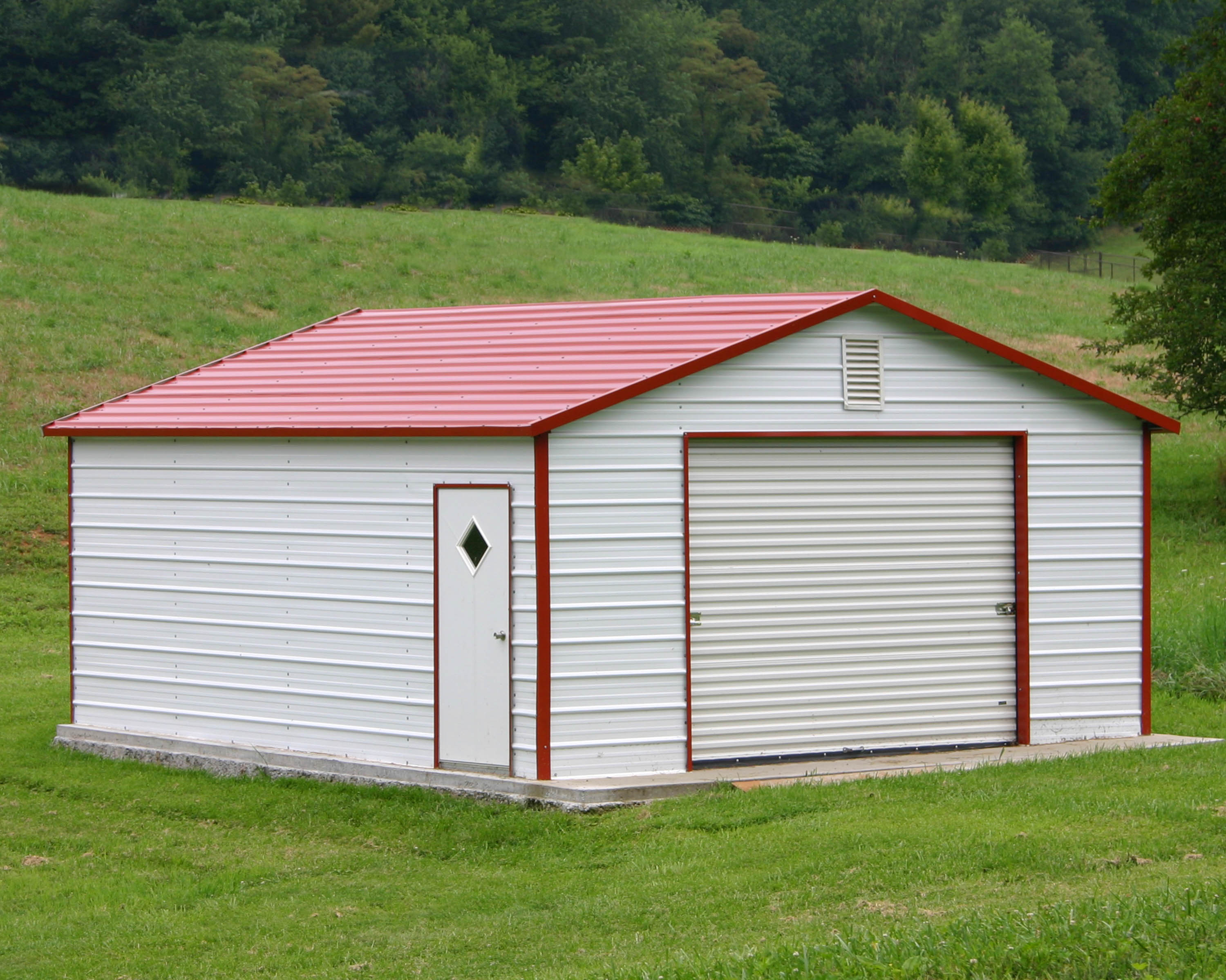 Steel building kit specials steel building garages for Metal barn images