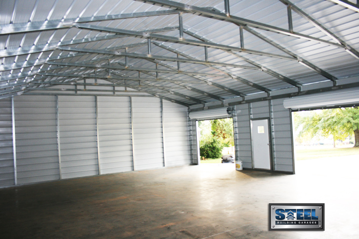 96 metal garage inside perfect combo metal building for Carport shop combo