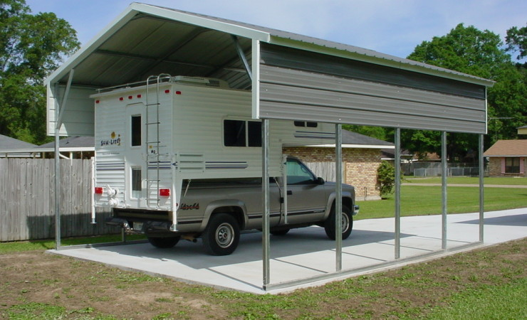 Avoid heat damage to your cars steel building garages for Rv garage kits