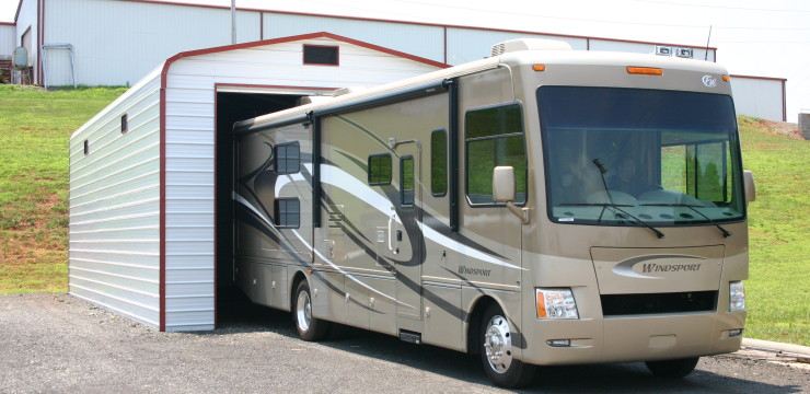 Rv garage steel building garages for How tall is an rv garage door
