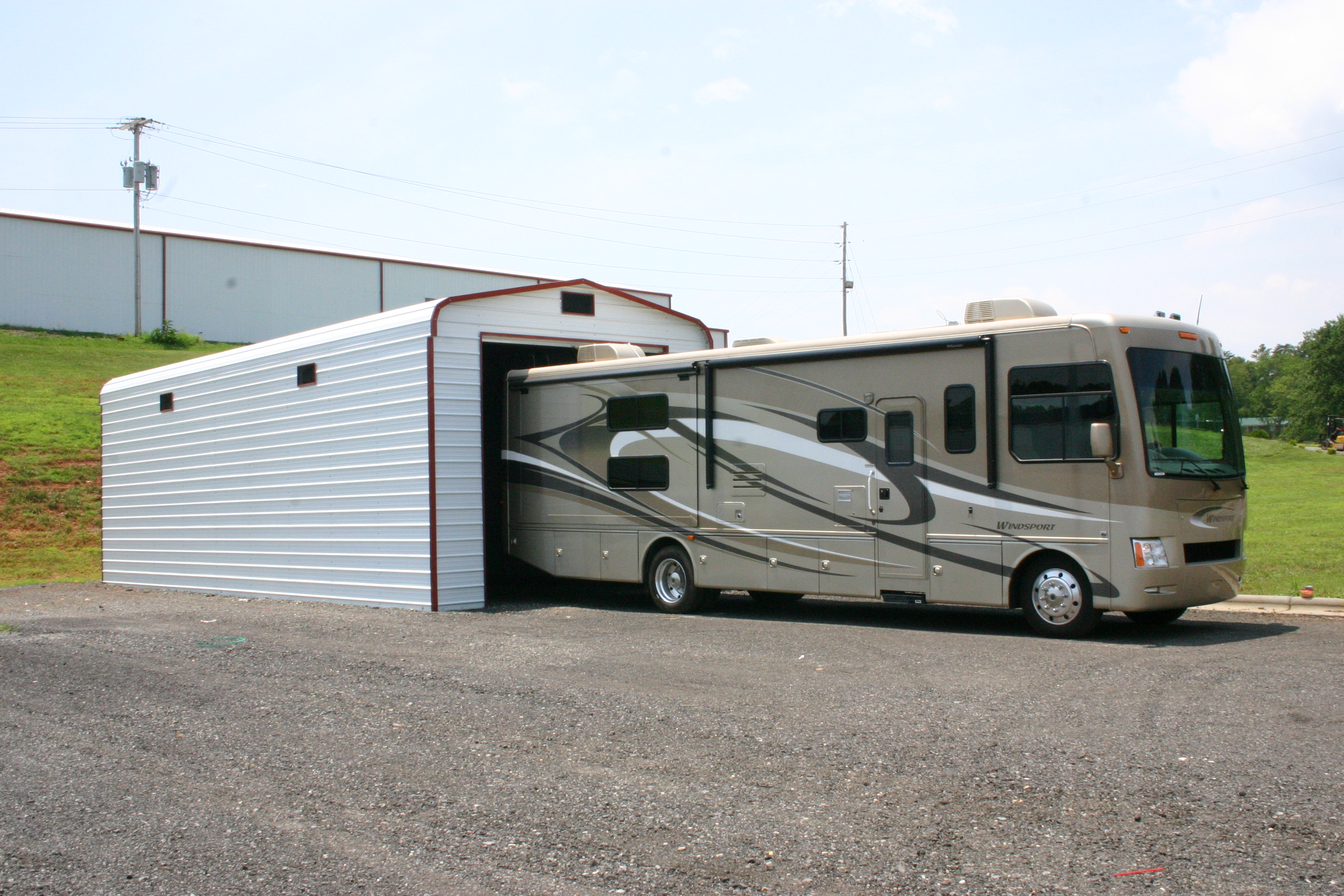Rv carports rv metal buildings steel building garages Rv with garage
