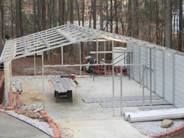 Easy to assemble steel building