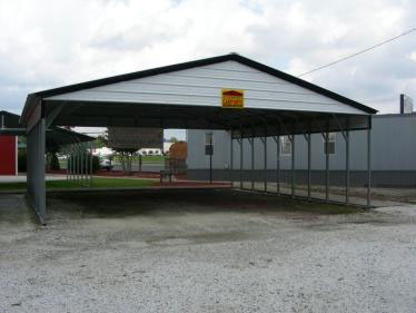 Types of metal buildings steel building garages for Open carports