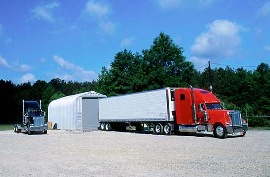 Garages large enough for tractor trailer storage