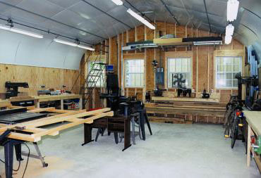 Metal buildings make durable and affordable workshops