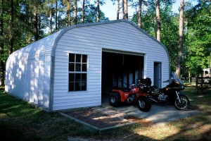 Steel garages are perfect for motorcycle storage