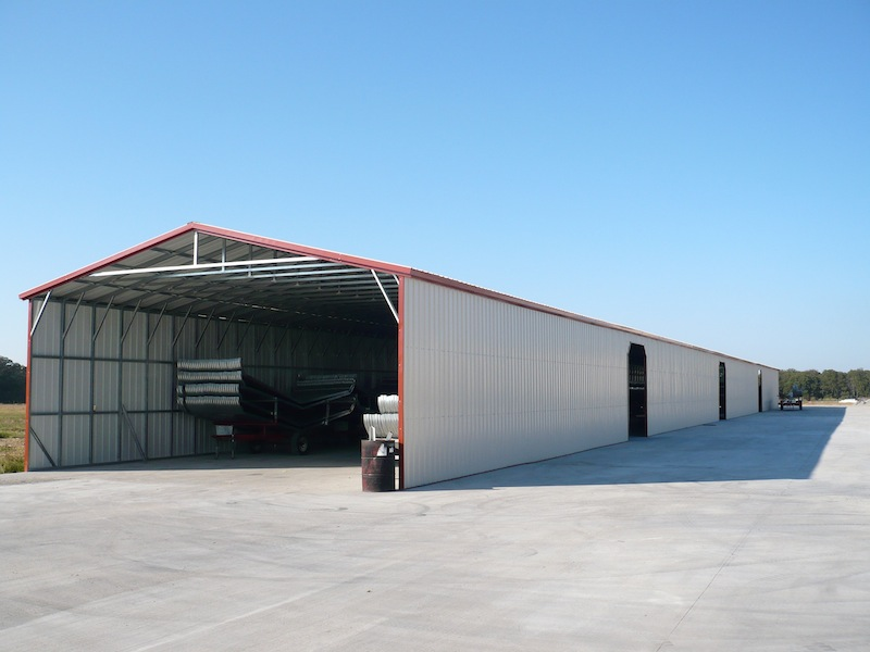 Large commercial metal building