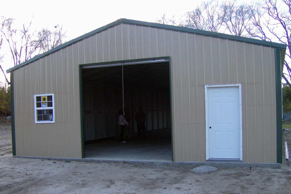 Customized metal garage by steel building garages