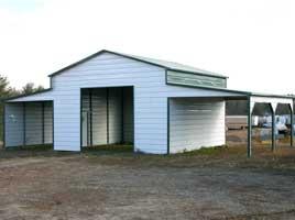 Ridgeline metal barn