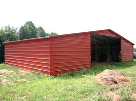 valley style metal barn
