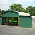 County barn created from a metal garage