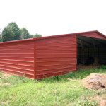 Valley barn created from steel building garages