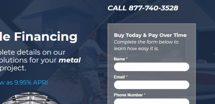 Prefab Garage Building Financing